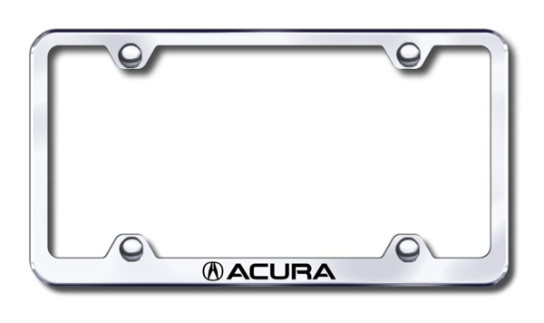 Acura Laser Etched Stainless Steel Wide License Plate Frame