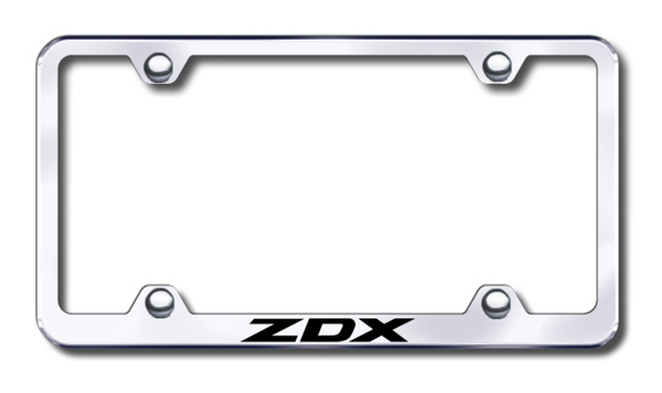 Acura ZDX Laser Etched Stainless Steel Wide License Plate Frame