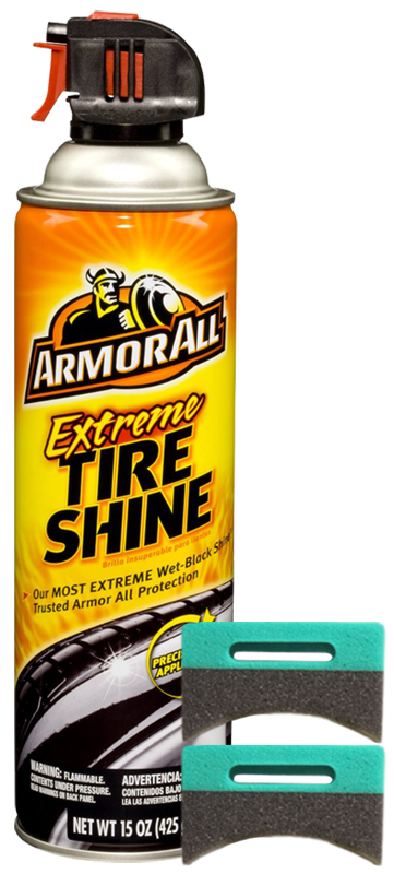 Armor All Extreme Tire Shine Aerosol 15 oz. & Applicator Pads Kit