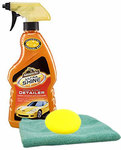 Armor All Ultra Shine Wash & Wax Detailer, Microfiber Cloth & Foam Pad Kit