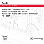 Audi A4/S4 Repair Manual on DVD-ROM (2002-2008)