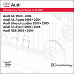 Audi A6/S6/RS6 Repair Manual on CD-ROM (1998-2005)