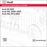 Audi A8/W12 Repair Manual on CD-ROM (2004-2005)