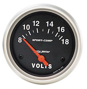 Auto Meter Sport-Comp Voltmeter Electric Gauges