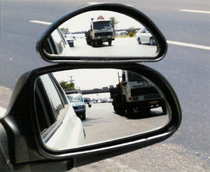 Auxilary Wide Angle Side View Mirror Attachment Medium