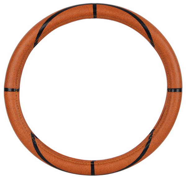 Basketball Synthetic Leather Steering Wheel Cover