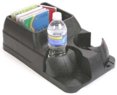 Black Adjustable Drink Holder & Console
