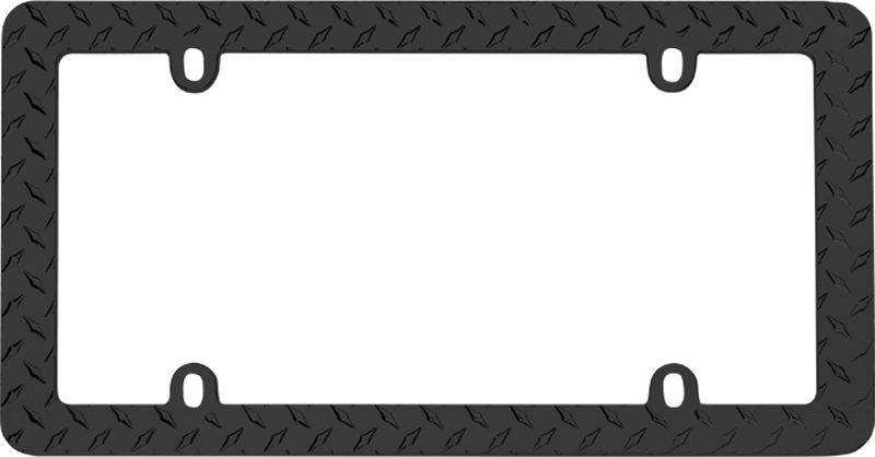 Black Diamond Plate License Plate Frame
