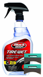 Black Magic Tire Wet Spray (32 oz.) & Applicator Pads Kit