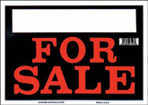 """Black & Red For Sale Sign (8"""" x 12"""")"""