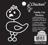 Black & White Stick Drawing Chicken Sticker