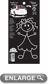 Black & White Stick Drawing Teen Girl Sticker