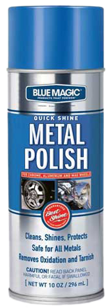 Blue Magic Quick Shine Metal Polish Aerosol Spray 10 oz
