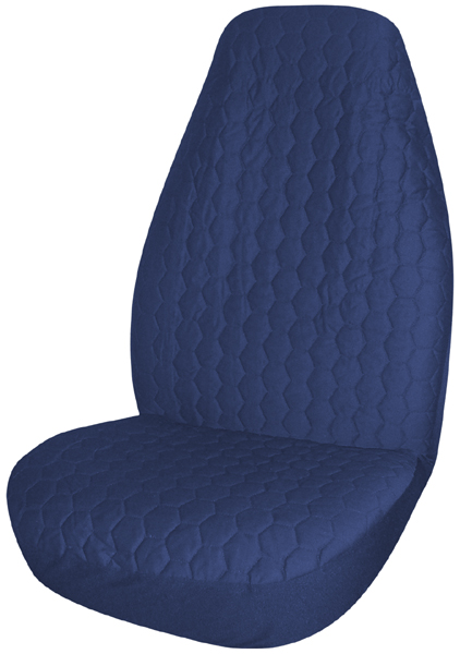 Blue Quilted Universal Bucket Seat Cover Pair