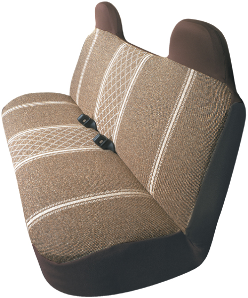 Brown Diamond-Back Truck Bench Seat Cover