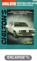 Chevy Citation/XII, Buick Skylark, Oldsmobile Omega/Pontiac Phoenix (1980-85) Chilton Manual
