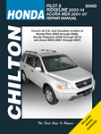 Chilton Repair Manual For Acura MDX & Honda Pilot and Ridgeline (2003-2014)