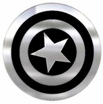 Captain America Shield Chrome Colored Decal