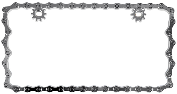 SKU-CUS92707 Chrome Butterfly Metal License Plate Frame from Auto Barn