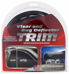 Chrome/Black Bug Delector & Window Visor Trim (18 ft.)