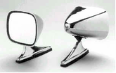 CIPA Dual Sport Chrome Mirror