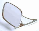 CIPA Universal Oblong Chrome Side View Mirror
