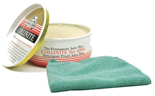 Collinite 476S Double-Coat Paste Wax 9 oz. & Microfiber Cloth Kit