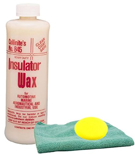 Collinite 845 Insulator Wax 16 oz. & Microfiber Cloth & Foam Pad Kit
