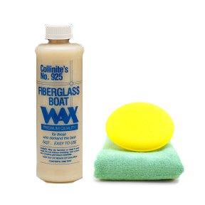 Collinite 925 Fiberglass Boat Wax 16 oz. Microfiber Towel & Foam Pad Kit
