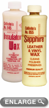 Collinite Insulator Wax (845) & Leather and Vinyl Wax (855) Combo Kit