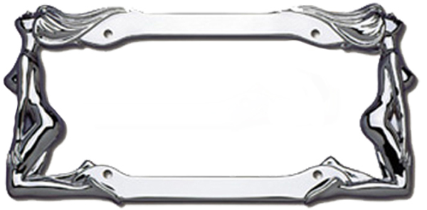 Cruiser Twin Women Chrome License Plate Frames