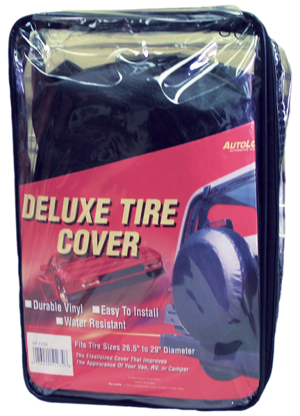 Deluxe Black Spare Tire Cover