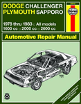 Dodge Challenger & Plymouth Sapporo Haynes Repair Manual (1978-1983)