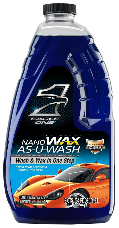 Eagle One Nanowax Wax-As-U-Wash Car Wash 64 oz