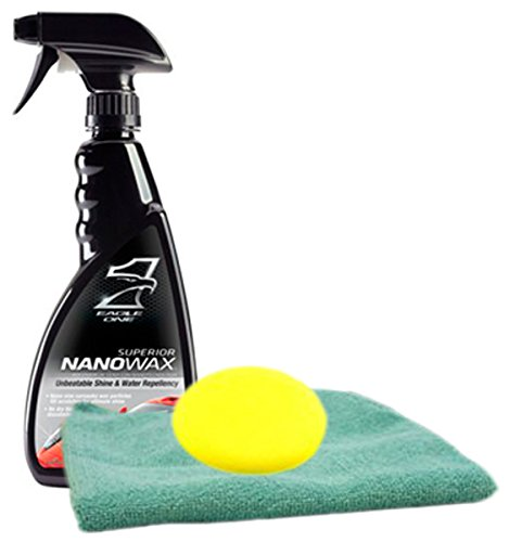 Eagle One Superior NanoWax Spray 23 oz. Microfiber Cloth & Foam Pad Kit
