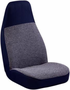 Elegant Tweed Blue High-Back Bucket Seat Cover