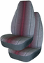 Fast lane Black Stripes Universal Bucket Seat Cover (Pair)