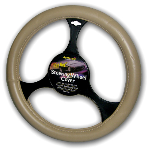 Fat Boy Leather Steering Wheel Cover