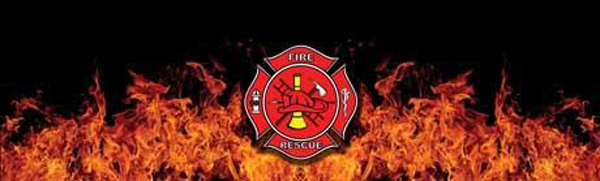 Fire Rescue Rear Window Decal