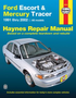 Ford Escort & Mercury Tracer Haynes Repair Manual (1991 - 2002)