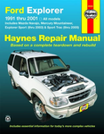 Ford Explorer, Mazda Navajo & Mercury Mountaineer Haynes Repair Manual (1991-2005)