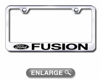ford fusion laser etched stainless steel license plate frame