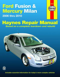 Ford Fusion & Mercury Milan Haynes Repair Manual (2006-2010)
