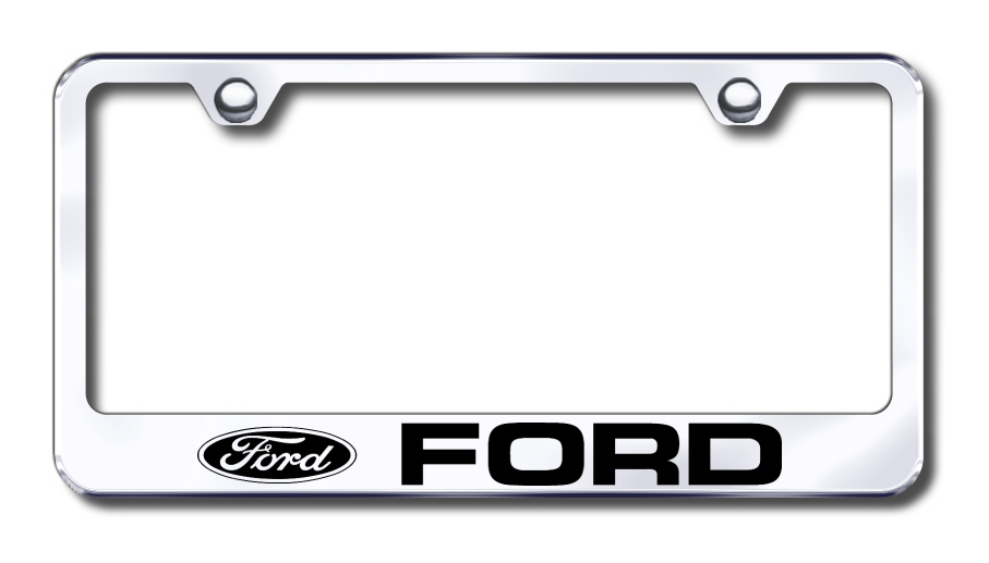 ford laser etched stainless steel license plate frame