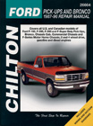 Ford Pick-Ups and Bronco (1987-96) Chilton Manual