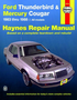 Ford Thunderbird & Mercury Cougar Haynes Repair Manual (1983-1988)
