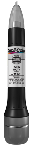 Ford White All-In-1 Scratch Fix Pen - 9M YY 1986-2002