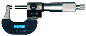"""Fowler 0-1"""" Digit Counter Outside Micrometer"""