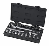 "Gearwrench® 23 Piece, 3/8"" Drive (20Mm Vortex) Fractional /Metric Xl Pass-Thru® Ratchet Set"