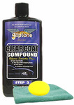 Gliptone Clearcoat Compound (16 oz), Microfiber Cloth & Foam Pad Kit